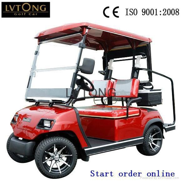 Battery powered double seats go kart (LT-A2) 5