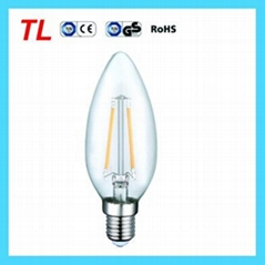 Factory Price 2.2w led filament candle light C35 LED bulb