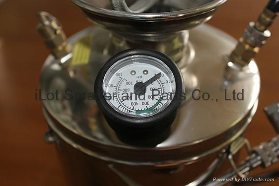 6L Stainless Steel Compression Sprayer with pressure gauge 3