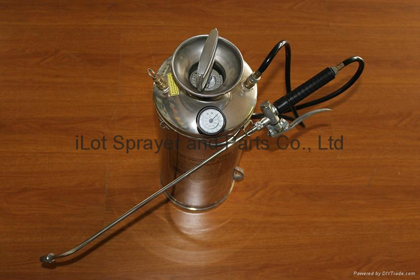 6L Stainless Steel Compression Sprayer with pressure gauge 1