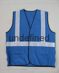 Hi-vis Blue Working Reflective Safety Vest Clothes