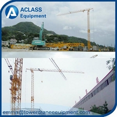 QTK2510 Fast self erecting tower crane with 25m jib boom