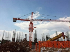 Hot TC6012 Tower crane 6T or 8t Load 60M jib length