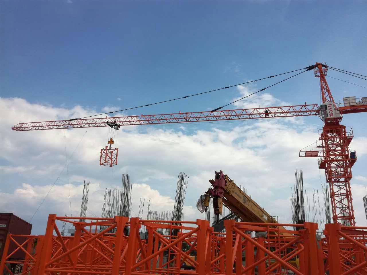 Hot TC6012 Tower crane 6T or 8t Load 60M jib length 3