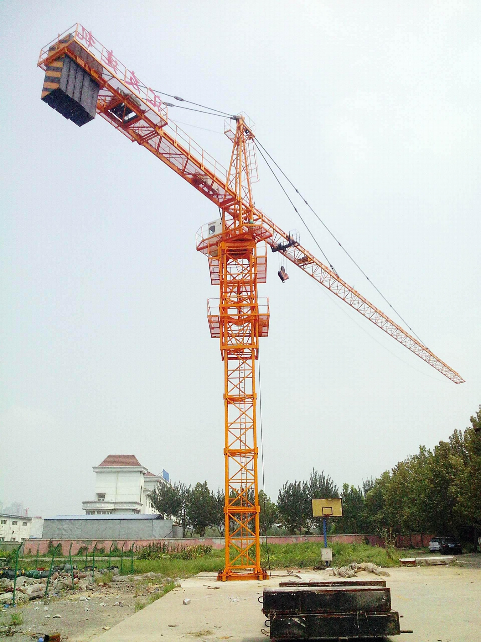 Hot TC6012 Tower crane 6T or 8t Load 60M jib length 4