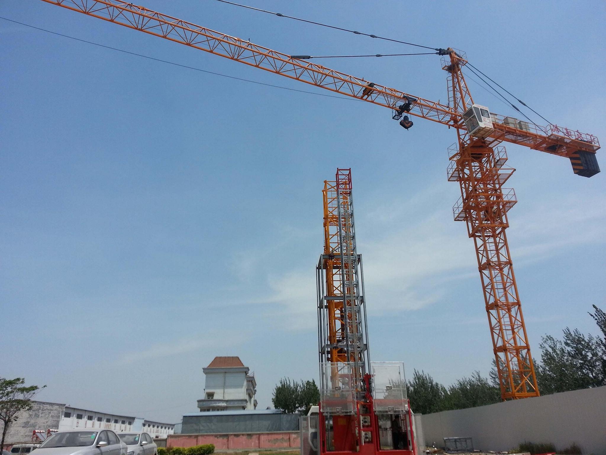 Hot TC6012 Tower crane 6T or 8t Load 60M jib length 2
