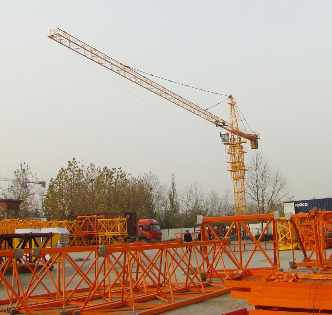 Hot TC6012 Tower crane 6T or 8t Load 60M jib length 5
