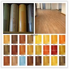 0.75mm*2m pvc felt backing pvc flooring roll
