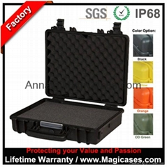 ABS Plastic Waterproof IP68 Pelican Black Equipment Laptop Computer IPAD case
