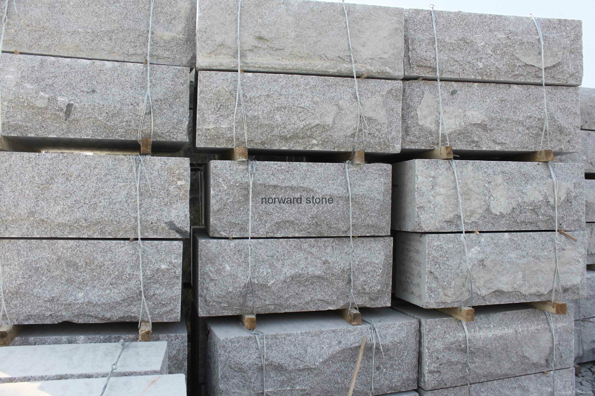 G341 light grey granite slabs curbstone wall stone 3