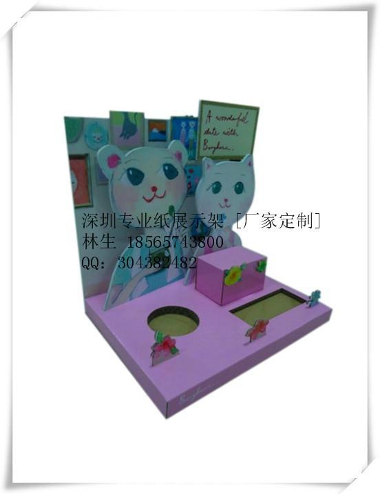 多层落地式纸货架 台式纸展示盒 (产品均为定制款) 2