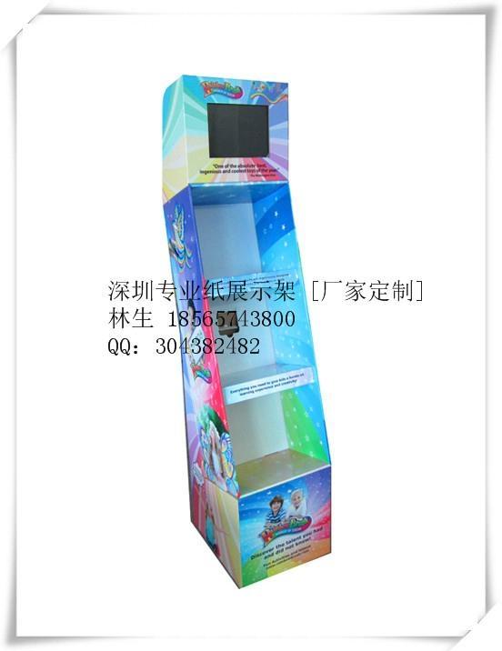多层落地式纸货架 台式纸展示盒 (产品均为定制款) 4