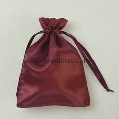 Factory Price Promotion Customized Drawstring Satin hair Bag Shoe Packaging Sati