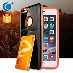 outer card holder PC+TPU case for iphone shell for iphone 6s phone case