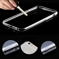 superior quality crystal clear tpu case for iPhone 6s plus