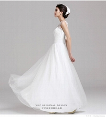 Spring and Summer fashion shoulder lace floor length wedding dress 145