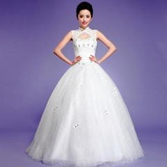 spring word shoulder princess elegant and stylish simplicity  wedding dress