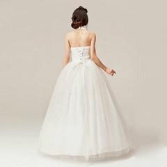 luxury v-neck Rhinestone sexy and sweet princess floor length wedding dress 34