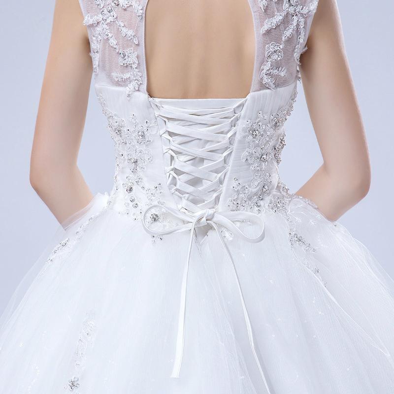 Luxury sleeveless shoulder beaded lace tutu lavish wedding dresses 37 5