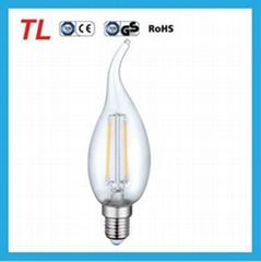 4W C35T  led filament led bulb
