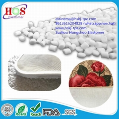 TPE compound for carpet coating