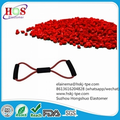 thermoplastic raw material for exercise band