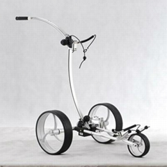 Aluminium electric golf trolley