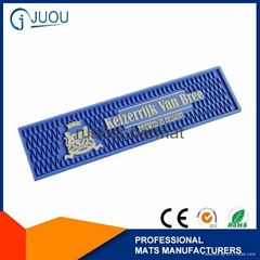 Best quality custom silicone pvc bar mats with logos