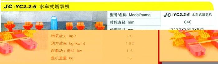 0.75KW1.5KW2.2KW四葉輪水車式增氧機 2