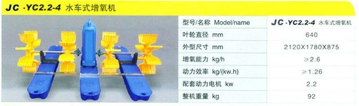 0.75KW1.5KW2.2KW四葉輪水車式增氧機 3