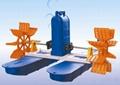 廠家新款國標100%銅線魚塘六葉輪水車式增氧機 2.2KW 2