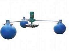 3个浮球增氧机 1.5KW鱼塘水产养殖专用增氧机