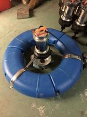 鱼塘虾塘增氧曝气式水轮式涌浪式
