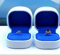 塑膠套鐵首飾包裝盒高檔PU戒指盒