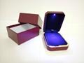 高檔LED燈PU首飾盒 4