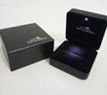 韓式高檔LED拉絲紋珠寶盒 2