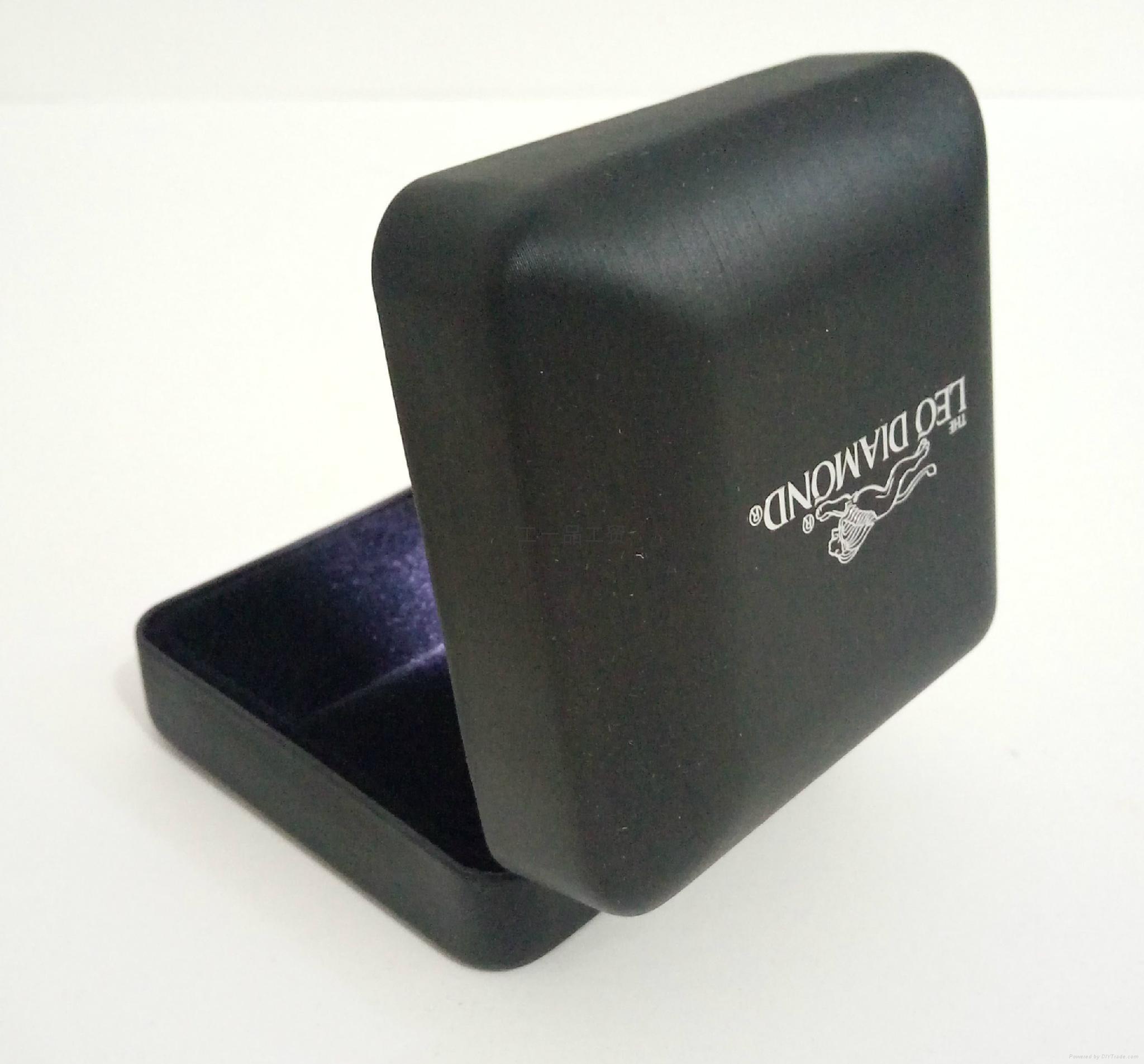 韓式高檔LED拉絲紋珠寶盒 4