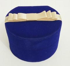 圓形套裝進口長毛絨珠寶盒禮品盒