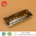 plastic disposable blister sushi box with clear lid 2