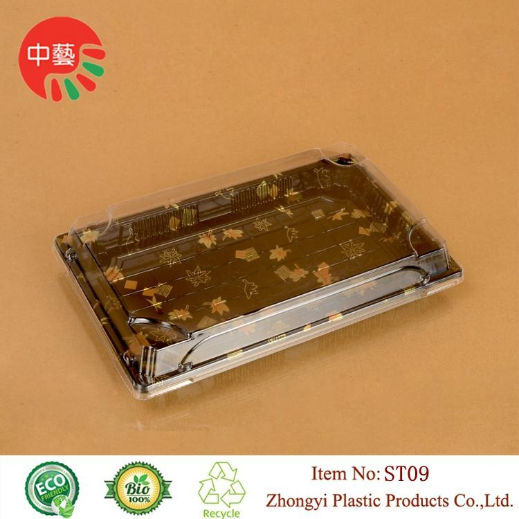 plastic food sushi packaging take away box with lid 2