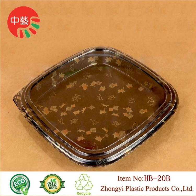 Clear lid plastic disposable sushi tray 12' large size 2