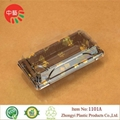 Clear lid plastic disposable sushi tray 12' large size 3