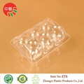 clear plastic clamshell egg packaging cartons tray 2