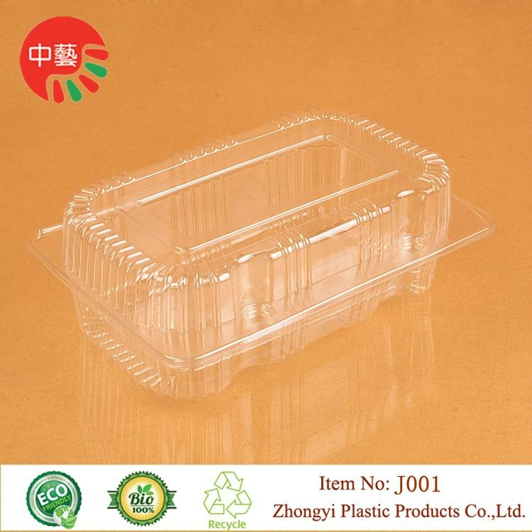 clear blister clamshell packaging plastic food container 1