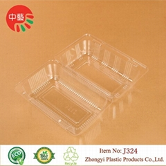 clear blister plastic food container with lid