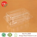 clear blister plastic food container with lid 2
