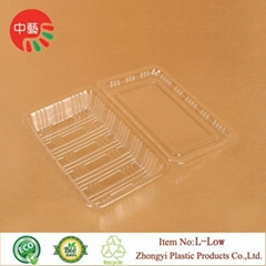 clear clamshell blister packaging plastic food box