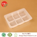 food grade plastic cooked food tray with dividers 2