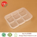 food grade plastic cooked food tray with