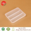 blister PP plastic packaging food tray with dividers 4